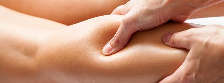 Masaje terapéutico y sesión de termoterapia
