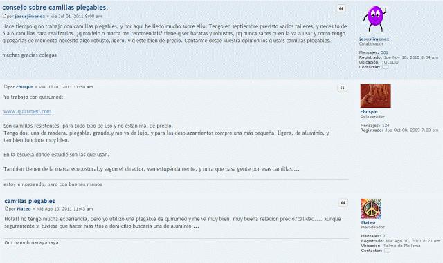 Opiniones sobre las camillas Quirumed